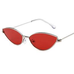 Wholesale korean cute sexy - Korean Style Cute Sexy Cat Eye Sunglasses Women 2018 Summer Retro Small Frame Black Red Cat Eye Sun Glasses for Cool Women