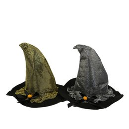 cappelli di inverno bella ragazza Sconti Cappello doppio cosplay per adulti in argento con cappello da strega
