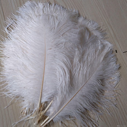 Penas de avestruz para casamentos on-line-marki Pena de avestruz Plume Branco 14-16 polegadas (35-40 cm) Decoração de casamento Centros de mesa Fontes do evento de festa suprimentos festivos casamentos deco