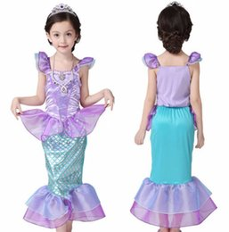 Wholesale girls pageant costumes - Cute Summer Girls Dress Girls Kids Bling Princess Pageant Party Long Tail Maxi Dress Costume Cosplay Clothes