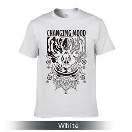 Camisetas da rua da forma, mudando o t-shirt do humor, as camisetas de algodão da garganta redonda. de