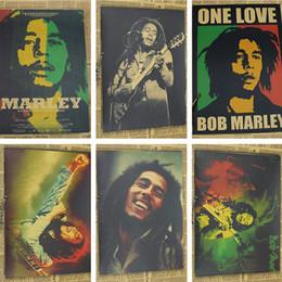 marcos digitales rosa Rebajas Vintage Poster Bob Marley retro nostálgico antiguo Reggae Rock poster Kraft música pintura retro 30x21cm