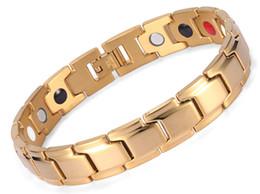 бижутерия для здоровья Скидка Био Магнитный браслет, Auniquestyle мужчины ювелирные изделия исцеление Магнитный браслет баланс здоровья серебро золото черный браслеты из нержавеющей стали для женщин