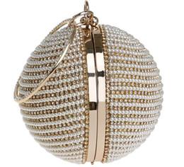 Мода 3 цвета Европейская и американская круглая сумка для ужина Женская позолоченная серебряная жемчужная сумка от Поставщики непромокаемая сумка