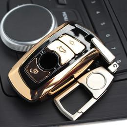 Portachiavi verde online-BMW ABS Auto Car Key Shell Case Cover Cover con portachiavi Portachiavi Fibbia portachiavi portachiavi BMW F07 F10 F11 F20 F25 F26 F30