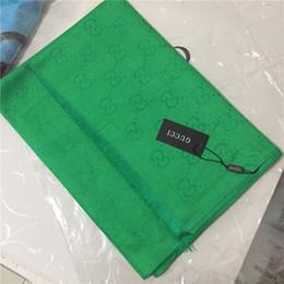 Tintes jacquard online-2018 Nueva marca de lujo bufanda moda bufanda suave nuevo diseño de hilo teñido jacquard LOGO bufanda 180 * 70 CM