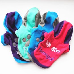 Wholesale xs dog sweaters - XS S M L XL Winter Casual Pets Dog Clothes Warm Coat Jacket Clothing For Dogs Cotton Blended
