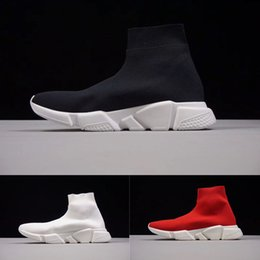 Wholesale High Speed Cycles - Luxury Sock Shoe Speed Trainer Running Shoes High Quality Sneakers Speed Trainer Sock Race Runners black Shoes men and women Sports Shoes