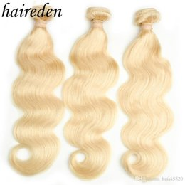 trame de cheveux bohème Promotion Rêve Beauté Brésilienne Vague de Corps Remy humain Trame de Cheveux 1 PC # 613 longue blonde Armure de Cheveux Humains cheveux Bundles Livraison Gratuite