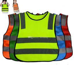 segurança estudantil Desconto Crianças estudante de Segurança Vestuário Colete Refletivo Segurança saneamento trabalho Reflexivo roupas colete de bebê Tops 5 cores C5210
