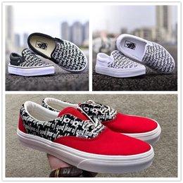 Wholesale golf cut - Fear Of God x Men Women Casual Shoes PacSun Era low cut Canvas Shoes Skateboarding Fashion sports sneakers black white red size 36-44