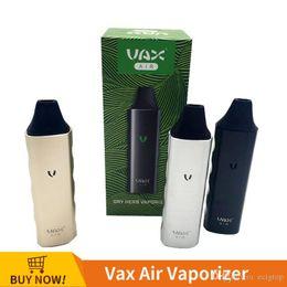 vax dry vaporizer 2018 - Authentic VAX AIR Dry Herb Vaporizer Temperature Control WAX Dry Herbal Vape Pen Portable 3000mAh Battery Huge Vapor