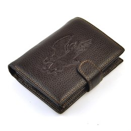 Владелец паспорта животных онлайн-Натуральная натуральная кожа классический двойные кошелек животных печати мешок монет кошелек паспорт карты держатель ID фото Мужчины Женщины практический случай
