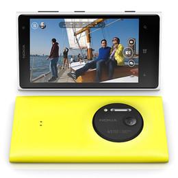 2gb ram 32gb rom teléfonos online-Reacondicionado Original Nokia Lumia 1020 Windows Phone 4.5 pulgadas Dual Core 2GB RAM 32GB ROM 41MP 4G LTE Teléfono móvil desbloqueado DHL gratis 1pcs