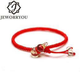 linea di giada Sconti Braccialetto con cordino rosso Charms Braccialetto citrino con femme regolabile in pietra naturale Crystal Red Jade line