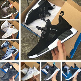 Wholesale red skulls - NMD XR1 Running Shoes Mastermind Japan Skull Fall Olive green Camo Glitch Black White Blue zebra Pack men women sports shoes 36-45