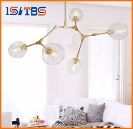 Wholesale Hall Trees - Lindsey Adelman Chandeliers lighting modern lamp novelty pendant lamp natural tree branch suspension Christmas light hotel dinning room