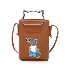 Argentina Paquete de teléfono móvil de la mujer 2018 Nueva impresión de la pantalla de la mujer coreana encantadora Mini- Mensajero portátil solo hombro monederos bolsos mujeres Suministro