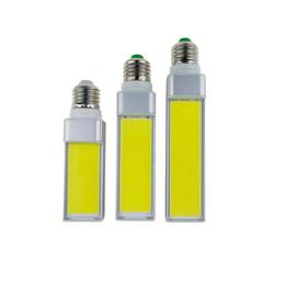 Wholesale E27 7w Cob Corn - LED Bulbs 7W 9W 12W E27 G24 G23 E14 220V 110V LED Corn Bulb Lamp Light COB Spotlight 180 Degree AC85-265V Horizontal Plug Wholesale
