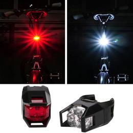 Wholesale Cool Bike Lights - 2Pcs cool design Bicycle Shine Tail Light Bright Bike Flashing 5 LED 3 modes Back Rear Lamp Safety warning night Red White