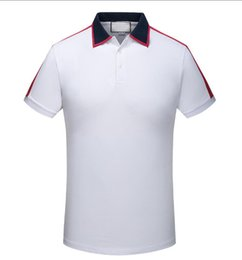 Wholesale Male Gradient Shirt - 6GGGGGG 2018 Summer Men Polo FRED Brand Embroidery Shirt Short Sleeves Tops Turn-down Collar Polo Clothing Male Fashion Casual Bees Polo