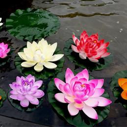 piante artificiali cinesi Sconti 10 cm artificiale foglia di loto manuale pu bud tipo falso stagno fiori galleggiante acqua romantico decorazione della festa nuziale puntelli foto cca9809 350 pz