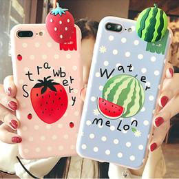 Per iPhone X 6 6S 7 8 plus Custodia morbida per telefono cellulare TPU di alta qualità con forma di frutta da