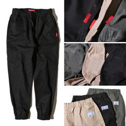Wholesale High Waist Harem - Embroidery cargo pants for men new hip hop tide brand jogger for men casual loose solid high street men pants free shipping