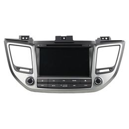Radio gps hyundai ix35 on-line-Leitor de DVD Carro para HYUNDAI TUCSON IX35 8 polegadas Andriod 8.0 octa core com GPS, controle de volante, Bluetooth