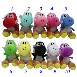 """2019 digimon felpa Super Mario Bros New 7"""" Yoshi juguetes de peluche de dinosaurio Yoshi Los animales de peluche muñeca colgantes Juguetes Figuras 10 colores"""