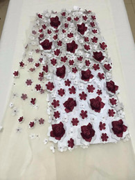 Wholesale Tulle Material Wholesale - 2018good sell French Lace Fabric Applique African French Lace Materials Nigerian Quality Tulle Mesh Lace
