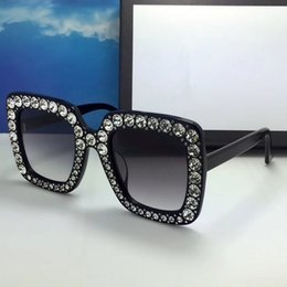 sparkle wraps Promo Codes - 0148 Sunglasses For Women Limited Edition Sparkling Diamond Designer Frame Popular UV Protection Sunglasses Top Quality Fashion Summer Style