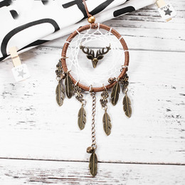 Wholesale Indian K - Indian Style Dream Catcher Creative Antique Alloy Feather Dreamcatcher Wall Hanging Craft Gift New 7 6xr C