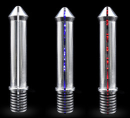Wholesale Newest Electro Sex Toys - Newest Unisex Electro Shock Stimulation Aluminium Anal Butt Anus Plug Electric G Spot Prostata Massager Adult Sex Toy