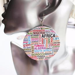ручная люстра Скидка 5 Пара Оптовая Цена Африканское Название Страны Круглые Деревянные Серьги Падение Для Женщин Партии