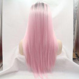 Perruque longue et droite perruque avec frange ? partir de fabricateur