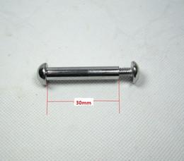 viti m6 Sconti M6 * 12mm e 8 * 30mm scooter scooter bici da bicicletta ammortizzatori dado bulloni dado viti argento 1 set