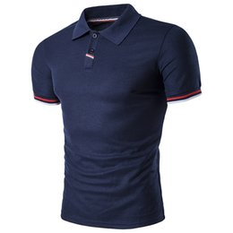 Dropshipping camisetas on-line-2018 Nova Marca de Roupas Casuais Homens de Negócios Camisa de Verão Turn Down Collar Camisas Sólida Camisa Masculina Dropshipping