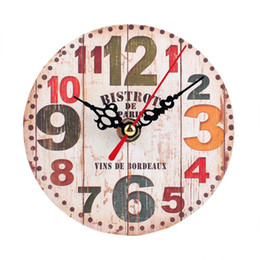 Wholesale Silent Wall Clocks - D-2 High Cost-Effective Vintage Style Non-Ticking Silent Antique Wood Wall Clock
