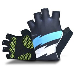 Wholesale Finger Support Gloves - 2018 BXIO Brand Mens Cycling Gloves With Gel Pad Palm Pro Team Half Finger Gloves Summer Bike Gloves Support Custom Design BX-ST146