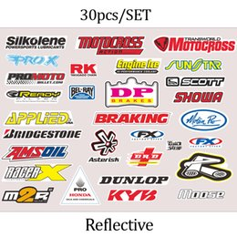 Wholesale Abs Gps - FASP 3M Motorcycle PVC Decals & Sticker 46 VR46 The Doctor Fish Helmet Decal Racing Motor cross GP Reflective waterproof protect