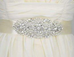 Пояс для новобрачных Пояс для свадебного платья Модное украшение со стразами Украшение для свадебного платья Кристалл Пояс для пояса Атласная лента от