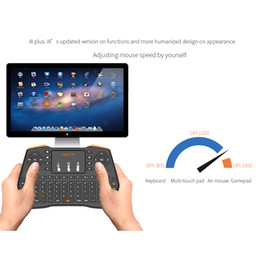 Wholesale Remotes For Laptops - Authentic VIBOTON i8 Plus Keyboard Wireless Air Mouse Remote With Touchpad Handheld For TV BOX X96 T95 M8S MXQ PRO Plus PC Laptop