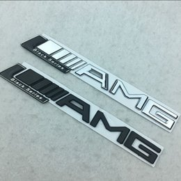 Wholesale Sports 3d Car Sticker - High Performance AMG Car stickers for Mercedes Sport AMG Black Series ABS Car Word Badges Tail Stickers