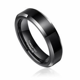 Wholesale 18k Gold Alliance - ashion ring set 2pcs 8mm& 6mm Women Men Black Tungsten Carbide Ring Wedding Band Promise Marriage Couples Rings set Fashion alliance ...