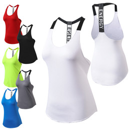 Wholesale dry fit shirts women - Yoga Tops women Sexy Gym Sports Vest Fitness Running woman Sleeveless shirt Quick Dry Fit Tank Top Yoga Wear clothing