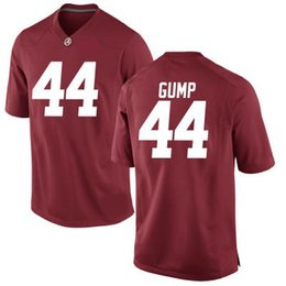93020802753 Custom NCAA Alabama Crimson Tide #44 Forrest Gump College Football red  white Men Youth Kids black Stitched College Football Tom Hanks Jersey