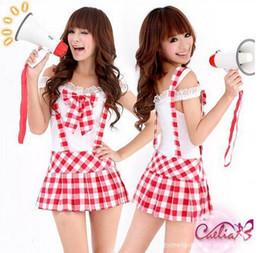 sexy classic plaid japan high school uniform lolita cosplay halloween dress girl costume lingerie