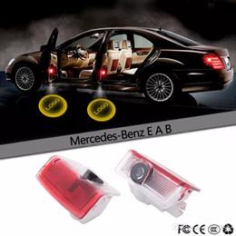 Discount door shadow logo benz - 2Pcs LED Car Door Laser Projector Logo Emblem Welcome Shadow Lamp For Mercedes Benz W212 W176 4MATIC A E B C ML GL Class