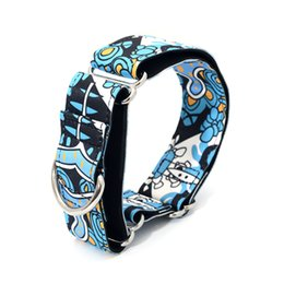 Wholesale necklaces fabric - New Fabric Super Strong Durable Reef Martingale Dog Collars Pet Greyhounds Dog Collar 3 .8cm Wide Necklaces